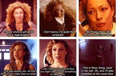"Friday 31 of May 2013 is the fifth anniversary of the story: ""Silence in the Library"" and therefore it's also five years since we met River Song for the first time. What are your thoughts about the story: ""Silence in the Library"", River Song's five years in Doctor Who, do you have a favorite qoute or scene with her?"