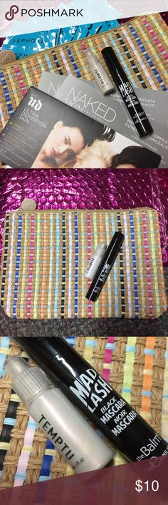 14 Piece BUNDLE Ipsy & Sephora This is a special edition ipsy bag that not everyone got.  It comes with a theBalm Cosmetics Mad Lash Mascara, a Temptu liquid highlighter, 8 Sephora express eye makeup removing wipes, and 3 Urban Decay primer and concealer samples💋💋💋LIMITED IPSY TWEAD BAG💋💋💋Full size SURPRISE just added💋💋💋 Sephora Makeup Face Primer