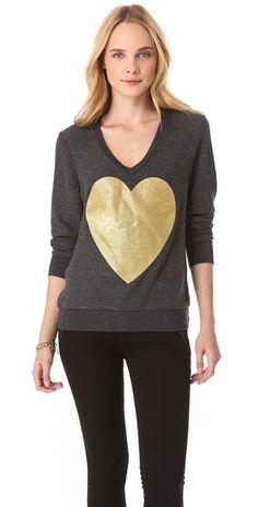 super cute gold heart sparkle sweatshirt. Want this!