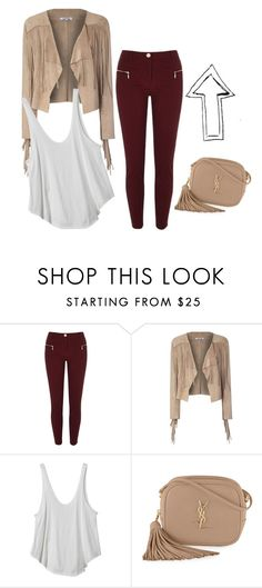 """""""YU"""" by claudia-ut on Polyvore featuring moda, River Island, Glamorous, RVCA y Yves Saint Laurent"""