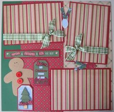 Two 12x12 Premade Christmas Scrapbook Pages | eBay