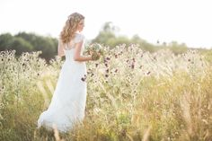 Bridal couple inspiration shoot in a bohemian vintage laced dress with a flower crown in her hair.       Sundown shooting in nature.       Dress: Rembo Styling    Photo: Daniel Koehler Fotografie