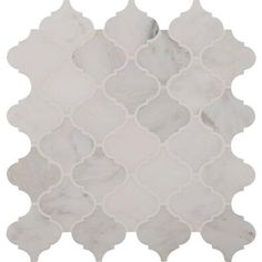 Msi Greecian White Arabesque 12 In X 10mm Polished Marble Mesh Mounted Mosaic Floor And Wall Tile 10 Sq Ft Case