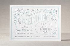 Alabaster Florals Letterpress Wedding Invitations by Jennifer Wick at minted.com - Like the date