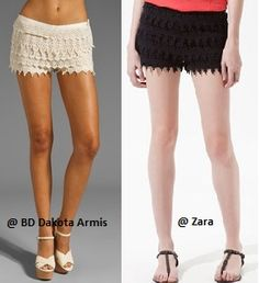 What do you think? Lace Shorts Hit or Miss?