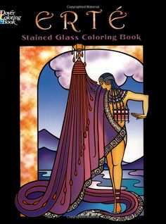 Erte Stained Glass Coloring Book Dover Books Amazonde Marty Noble