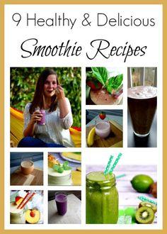 A blogger roundup of 9 healthy and delicious smoothie recipes. Enjoy! /zealousmom/.com