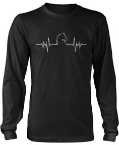 Horse Heartbeat. Does your heart beat like this? Then this is the t-shirt for you! Available here - https://diversethreads.com/products/horse-heartbeat?variant=17135993669