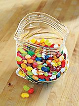 Unzipped Glass Bowl - Zippered Plastic Bag Bowl - Baggie Candy Bowl | Solutions