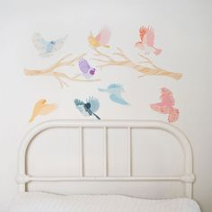 mae girly flying twitters wall stickers...