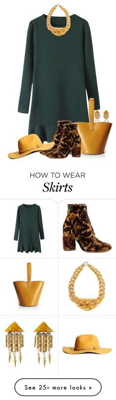 """""""Flouncy Dress!"""" by autumnwolf1965 on Polyvore featuring STELLA McCARTNEY, J.W. Anderson, DANNIJO, Necklush, H&M, Fall, casual, contest, chic and flounced"""