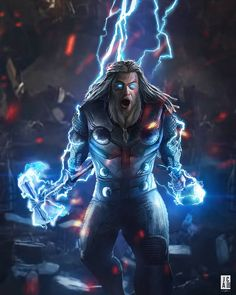 Thor (end game) avengers marvel comics, marvel avengers, mar Marvel Dc Comics, Marvel Avengers, Marvel Fanart, Iron Man Avengers, Marvel Heroes, Marvel Characters, Marvel Movies, The Mighty Thor, Jackson