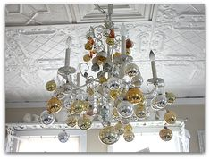 Decorate Chandelier for Christmas