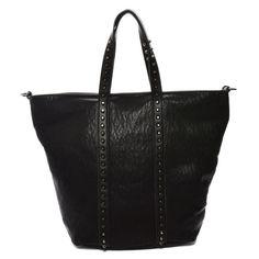 Mechaly Women's Holly Black Vegan Leather Tote Handbag