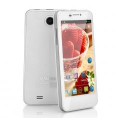 White MySaga M1 / 4.5 Inch Android 4.2 Phone - 720p HD Screen, 1.2GHz Quad Core CPU, 8MP Camera
