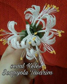 This Pin was discovered by Neş Filet Crochet, Crochet Motif, Crochet Flowers, Needle Lace, Ravelry, Tatting, Needlework, Diy And Crafts, Embroidery