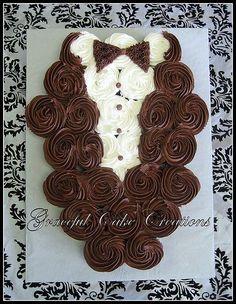 Bridal Shower Cupcake Tuxedo
