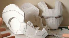 Iron Man helmet Pepakura tutorial Part 1 (software, scaling, printing a. Iron Man Helmet, Iron Man Suit, Iron Man Cosplay, Cosplay Diy, 3d Tutorial, Cosplay Tutorial, Casco Iron Man, Pepakura Iron Man, Diy Arts And Crafts