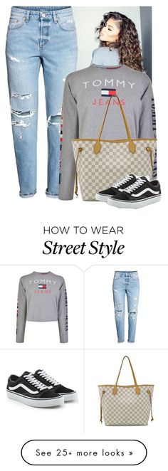 """""""street style"""" by stay-trill on Polyvore featuring Coleman, Tommy Hilfiger, Louis Vuitton and Vans"""