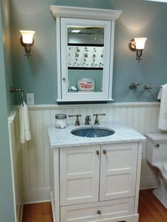 Small Bathroom Designs With Wainscoting how to design a cozy cottage-style interior | wainscoting, cottage