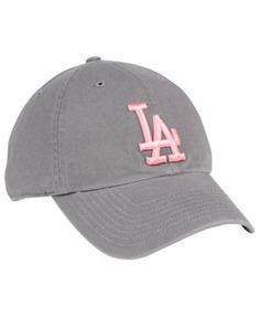 055b9faaf0719  47 Brand Los Angeles Dodgers Dark Gray Pink Clean Up Cap - Gray Adjustable