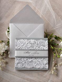 Custom Listing (20) Silver & Grey Wedding Invitation, Lace Wedding Invitations, Vintage Grey Invitation 4lovepolkadots, Model no: 02/korp/z by forlovepolkadots on Etsy https://www.etsy.com/listing/206117733/custom-listing-20-silver-grey-wedding