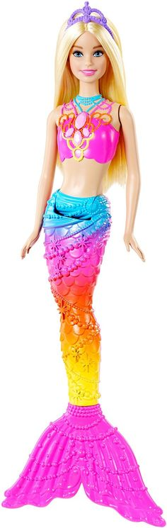 Amazon.com: Barbie Rainbow Mermaid Doll: Toys & Games