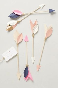 Ornamental arrows for decorations or setting the table (via Anthropologie). Valentine's Day Ideas for 2016 #valentines #cards
