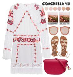 """Coachella '16"" by sophieelise97 ❤ liked on Polyvore featuring For Love & Lemons, Billabong, Grunenberger 1854, Karen Walker, Polaroid and Deborah Lippmann"