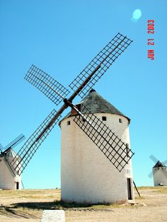 Don Quixote jousted with these windmills in the La Mancha town of Campo de Criptana, Spain
