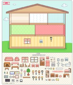 Make a dollhouse version of a floor plan with this website Kindergarten Activities, Learning Activities, Kids Learning, Activities For Kids, Paper Doll House, Paper Houses, Paper Dolls Clothing, Barbie Miniatures, Spanish Lessons
