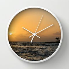 Sunset in Hawaii Wall Clock by Zen and Chic - $30.00