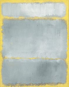 x x x ~ `MARK ROTHKO (1903-1970) - GRAYS IN YELLOW'