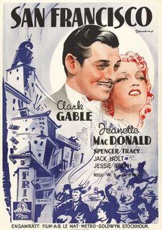 San Francisco, tourné en 1936 par Woodbridge S. Van Dyke avec Clark Gable et Jeanette MacDonald, est une romance sur fond de tremblement de terre authentique qui secoua la ville en 1906 :