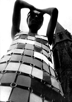 Dress by Paco Rabanne, photographed by David Montgomery.