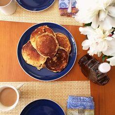 Buckwheat and banana pancakes - Em for Marvelous Gourmet Breakfast, Breakfast Recipes, Buckwheat Recipes, Banana Pancakes, Food For Thought, Language, Foods, Food Food, Food Items