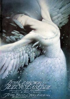 Swan Lake Poster for the ballet based on a German fairy tale, with music by Peter Ilyich Tchaikovsky designer: Wieslaw Walkuski year: 2000 Ballet Posters, Theatre Posters, Polish Posters, Art Posters, Movie Posters, German Fairy Tales, Romantic Goth, Swan Lake, Sale Poster