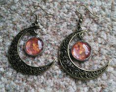 Moon and sun earrings £3.50