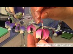 Polymer Clay Sweet Pea Flower Earrings Tutorial by CIndy Lietz, #Polymer #Clay #Tutorials