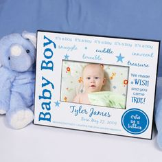 Personalized We Made A Wish - New Baby Printed Frame