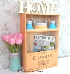 Chateau Charmail wine box key shelf