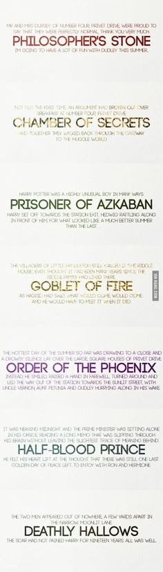 The first and last line of every HP  book