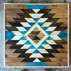 Navajo pattern painted on floor. Beautiful! Inspiration for  projects.
