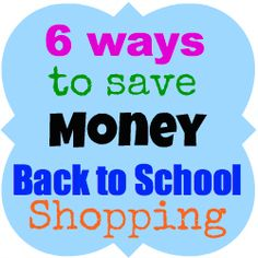 Enjoy 6 tips on Ways to Save Money Back to School Shopping. The most important trick to saving money is to start shopping early. Ways To Save Money, Money Tips, Money Saving Tips, Back To School Hacks, Back To School Shopping, School Tips, Kids Daycare, Financial Information, Money Matters