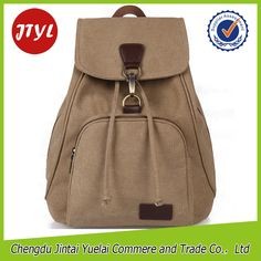 09f7e90ba Waxed Canvas Backpacks Solid Color Plecak Outdoor Fashion Mochilas for  Women Meninas, Mulheres, Mochila