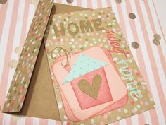 Housewarming, New Home Humorous card, HOME SWEET HOME handmade card