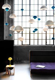 and tradition Verner Panton Flowerpot Lamp Interior Lighting, Home Lighting, Lighting Design, Pendant Lighting, Interior Design Portfolios, Nordic Design, Scandinavian Design, Arquitetura, Interiors