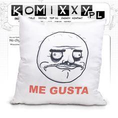 Poduszka Me Gusta / Me Gesta meme cushion