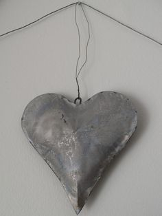 tin heart galvanized metal