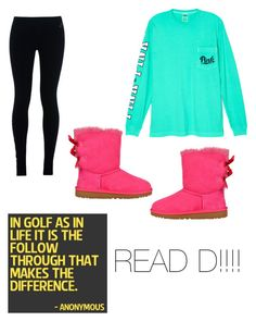 """""""Golf"""" by ironman8995 ❤ liked on Polyvore featuring Victoria's Secret, NIKE and UGG Australia"""